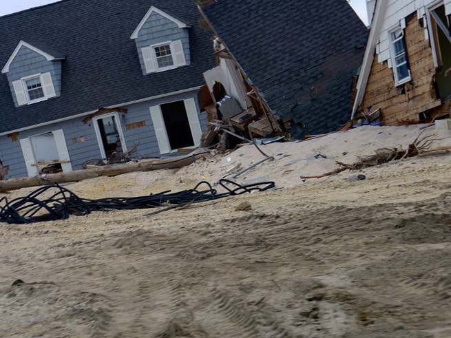 Collapsed houses NJ