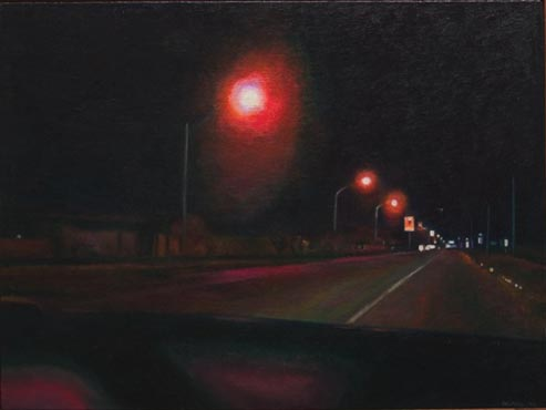 Night Road: Three Streetlights
