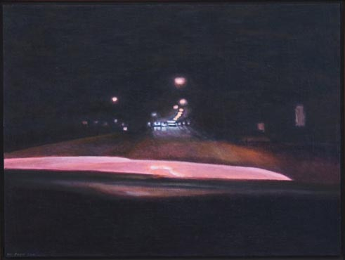 Night Road: Distant Street Lights