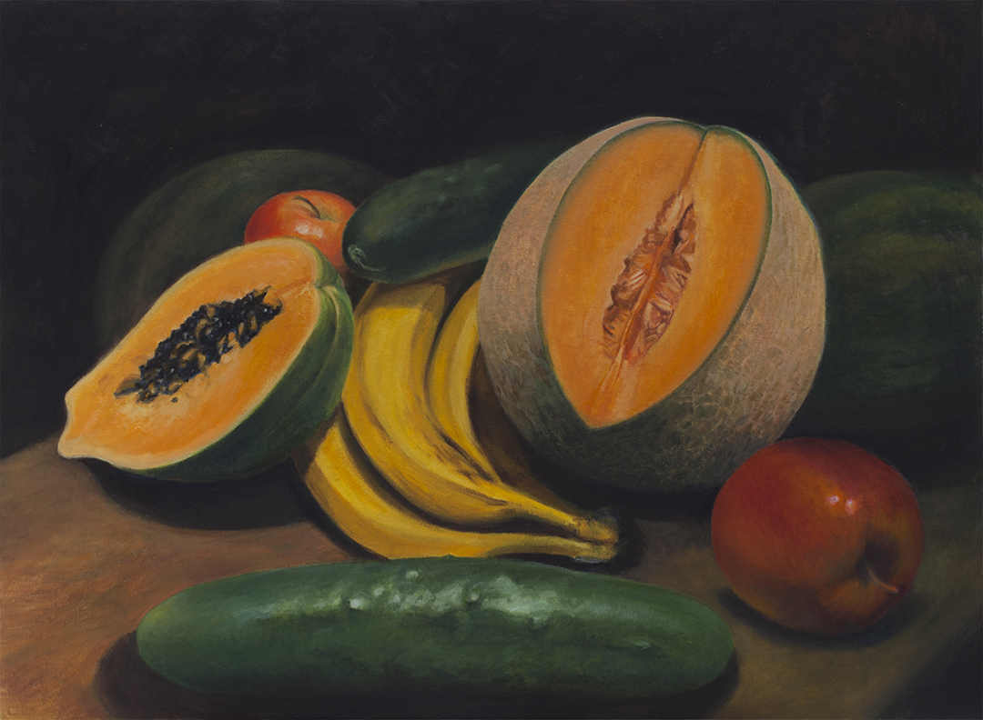 Still Life with Cantaloupe