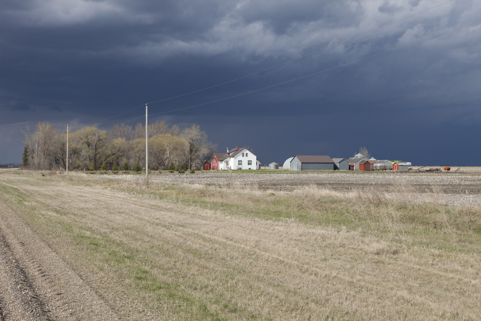 Farmhouse and approaching storm